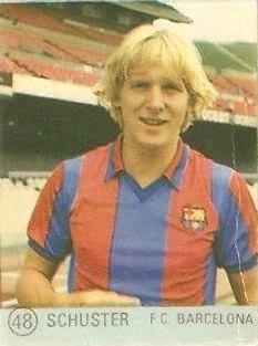 1983 Selección de Fútbol Liga Española. Schuster (F.C. Barcelona). Editorial Mateo Mirete.