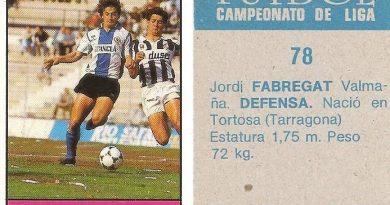 Fútbol 85-86. Campeonato de Liga. Fabregat (Hércules C.F.). Editorial Lisel.