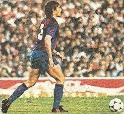 Liga 82-83. Migueli (FC Barcelona). Ediciones Este.