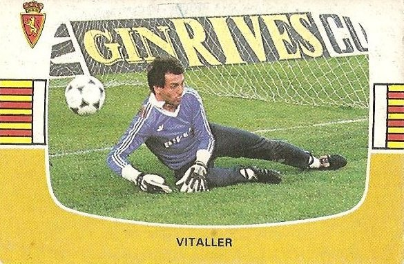 Liga 84-85. Vitaller (Real Zaragoza). Cromos Cano.
