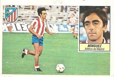 Liga 84-85. Mínguez (Atlético de Madrid). Ediciones Este.