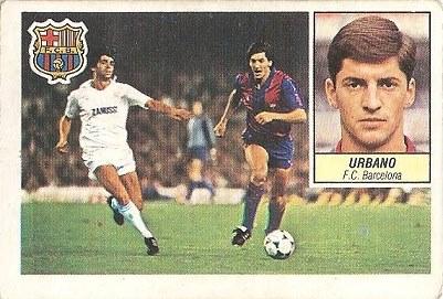 Liga 84-85. Urbano (FC Barcelona). Ediciones Este.