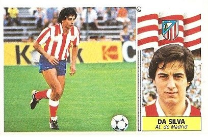 Liga 86-87. Da Silva (Atlético de Madrid). Ediciones Este.