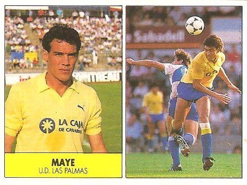 Liga 87-88. Maye (UD Las Palmas). Ediciones Festival.