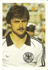 Eurocopa 1984. Allofs (Alemania Federal) Editorial Fans Colección.