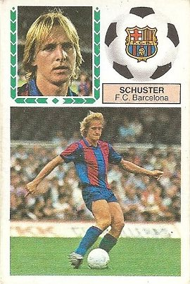 Liga 83-84. Schuster (F.C. Barcelona). Ediciones Este.
