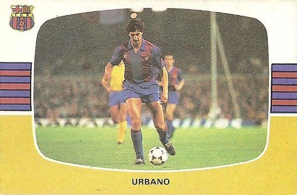 Liga 84-85. Urbano (FC Barcelona). Cromos Cano.