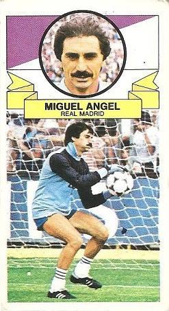 Liga 85-86. Miguel Ángel (Real Madrid). Ediciones Este.
