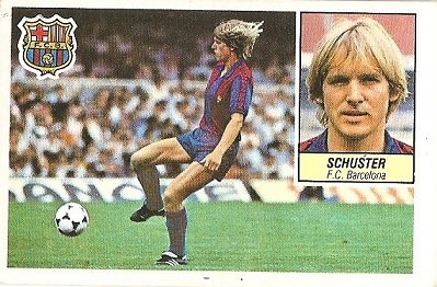 Liga 84-85. Schuster (F.C. Barcelona). Ediciones Este.