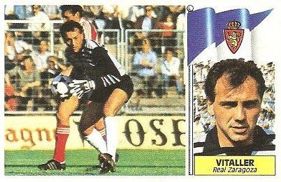Liga 86-87. Vitaller (Real Zaragoza). Ediciones Este.