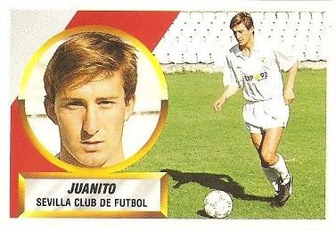 Liga 88-89. Juanito (Sevilla C.F.). Ediciones Este.