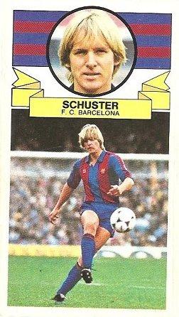 Liga 85-86. Schuster (F.C. Barcelona). Ediciones Este.