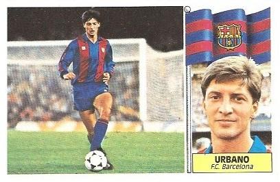 Liga 86-87. Urbano (FC Barcelona). Ediciones Este.