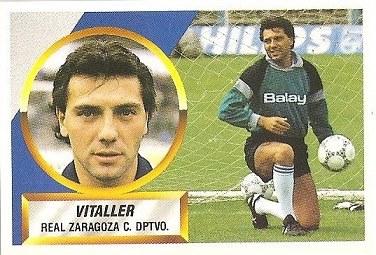 Liga 88-89. Vitaller (Real Zaragoza). Ediciones Este.
