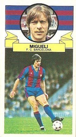 Liga 85-86. Migueli (FC Barcelona). Ediciones Este.