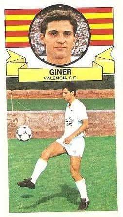 Liga 85/86. Giner (Valencia C.F). Ediciones Este.