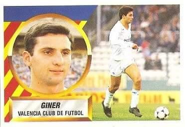 Liga 88/89. Giner (Valencia C.F). Ediciones Este.