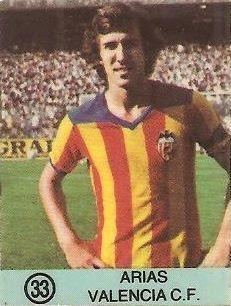 1983-84 Super Campeones. Arias (Valencia C.F.). (Ediciones Gol).