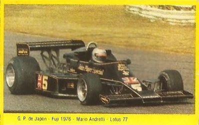 Grand Prix Ford 1982. Mario Andretti (Lotus). (Editorial Danone).