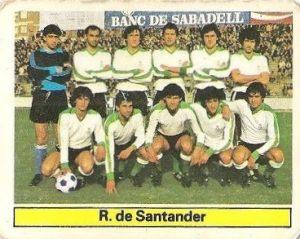 Liga 81-82. Alineación Racing de Santander (Racing de Santander). Ediciones Este.