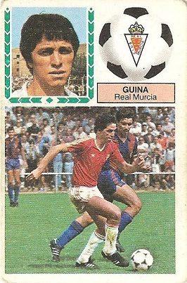 Liga 83-84. Guina (Real Murcia). Ediciones Este.