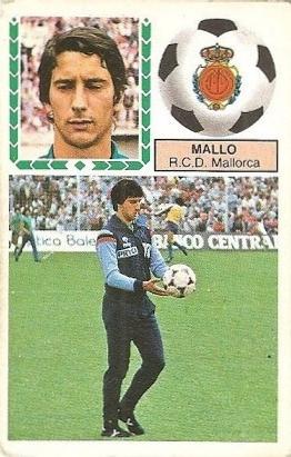 Liga 83-84. Mallo (R.C.D. Mallorca). Ediciones Este.