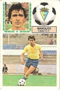 Liga 83-84. Manolito (Cadiz C.F.). Ediciones Este.