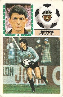 Liga 83-84. Sempere (Valencia C.F.) Ediciones Este.