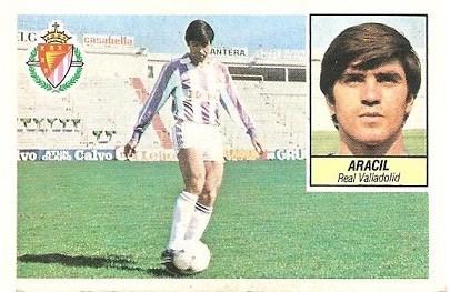 Liga 84-85. Aracil (Real Valladolid). Ediciones Este.