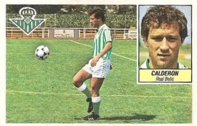 Liga 84-85. Calderón (Real Betis). Ediciones Este.