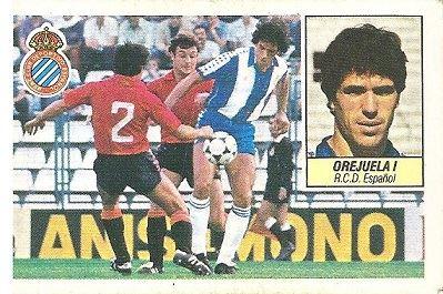 Liga 84-85. Orejuela I (R.C.D. Español). Ediciones Este.