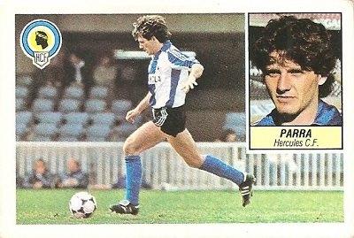 Liga 84-85. Parra (Hércules C.F.). Ediciones Este.