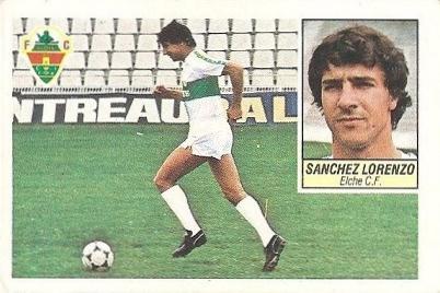 Liga 84-85. Sánchez Lorenzo (Elche C.F.). Ediciones Este.