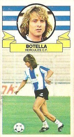 Liga 85-86. Botella (Coloca por Álvarez) (Hércules C.F.). Ediciones Este.
