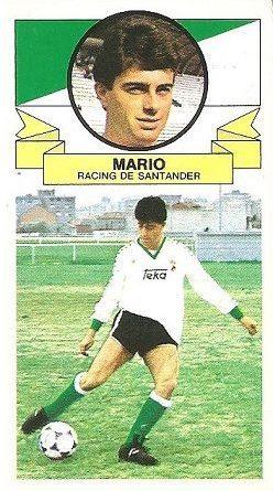 Liga 85-86. Mario (Racing de Santander). Ediciones Este.