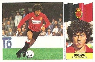 Liga 86-87. Hassan (R.C.D. Mallorca). Ediciones Este.