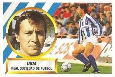 Liga 88-89. Uría (Real Sociedad). Ediciones Este.