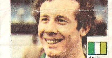 Super Cromos Los Mejores del Mundo (1981). Brady (Irlanda). Chicle Fútbol Boomer.