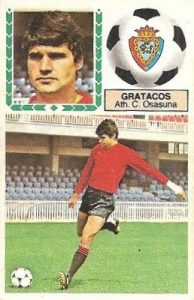 Liga 83-84. Fichaje Nº 12 Gratacós (Club Atlético Osasuna). Ediciones Este.