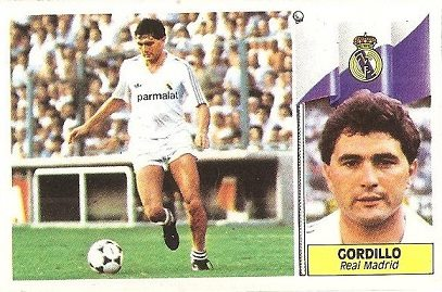 Liga 86-87. Gordillo (Real Madrid). Edicines Este.
