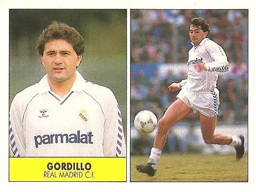 Liga 87-88. Gordillo (Real Madrid). Ediciones Festival.