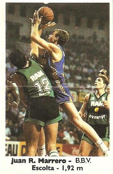 Basket Cromos 88-89. Juan R. Marrero (B.B.V.) Editorial J. Merchante - Bollycao.