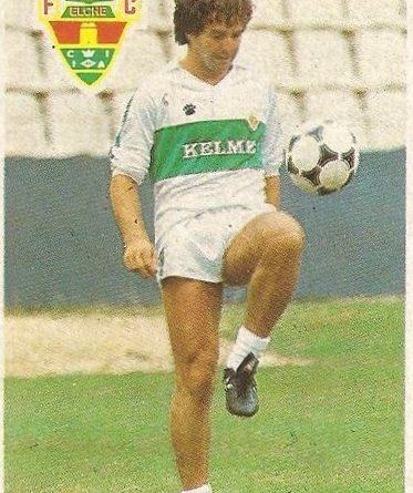 Diego Armando Maradona. Sus driblings. Sus goles. Liga 84-85. Sánchez Lorenzo (Elche C.F.). Cromo Esport.