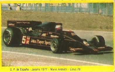 Grand Prix Ford 1982. Mario Andretti (Lotus). (Editorial Danone)..