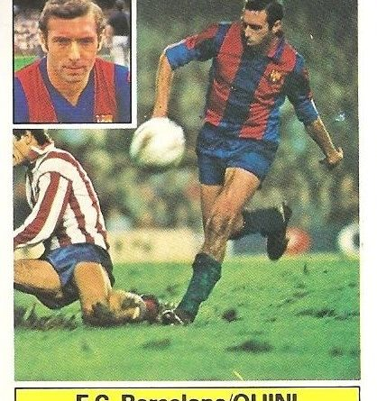 Liga 82-83. Quini (F.C. Barcelona). Ediciones Este.