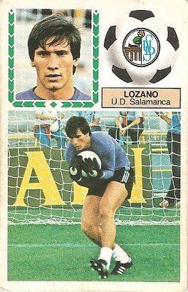 Liga 83-84. Lozano (U.D. Salamanca). Ediciones Este.