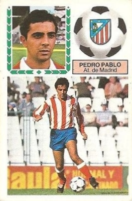 Liga 83-84. Pedro Pablo (Atlético de Madrid). Ediciones Este.