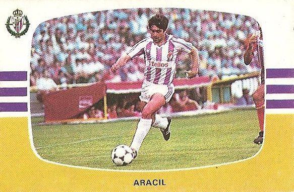 Liga 84-85. Aracil (Real Valladolid). Cromos Cano.