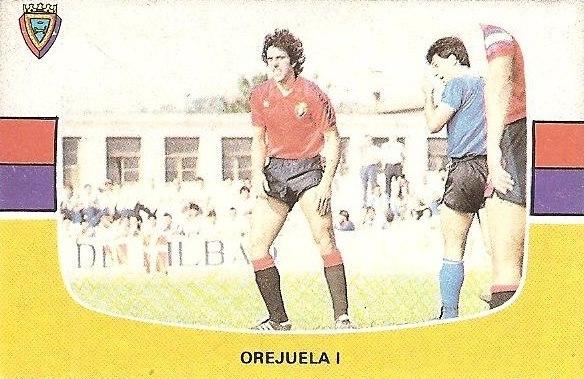 Liga 84-85. Fichaje Nº 14 B Orejuela I (Club Atlético Osasuna). Cromos Cano.