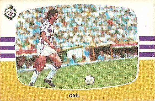 Liga 84-85. Gail (Real Valladolid). Cromos Cano.